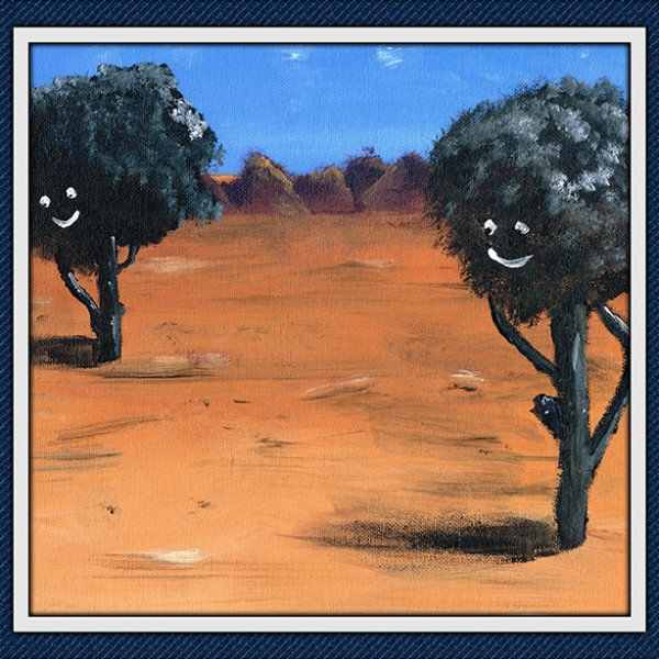chatty trees Framed